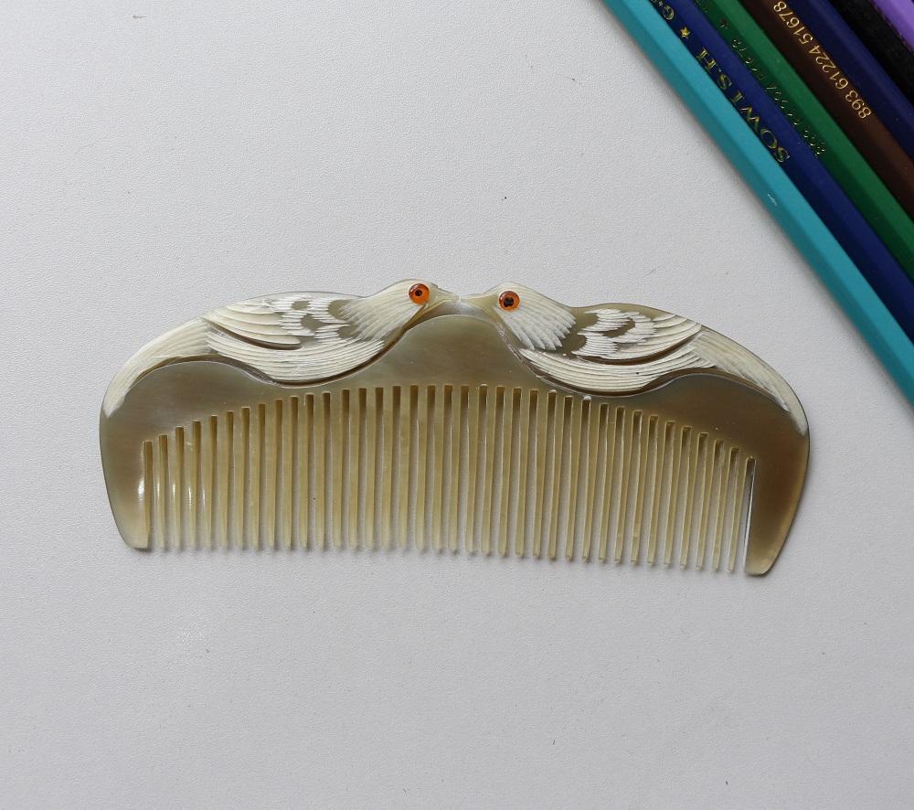 [Siêu mượt tóc] Lược chải tóc sừng trâu tốt cho sức khỏe L06 nhập khẩu