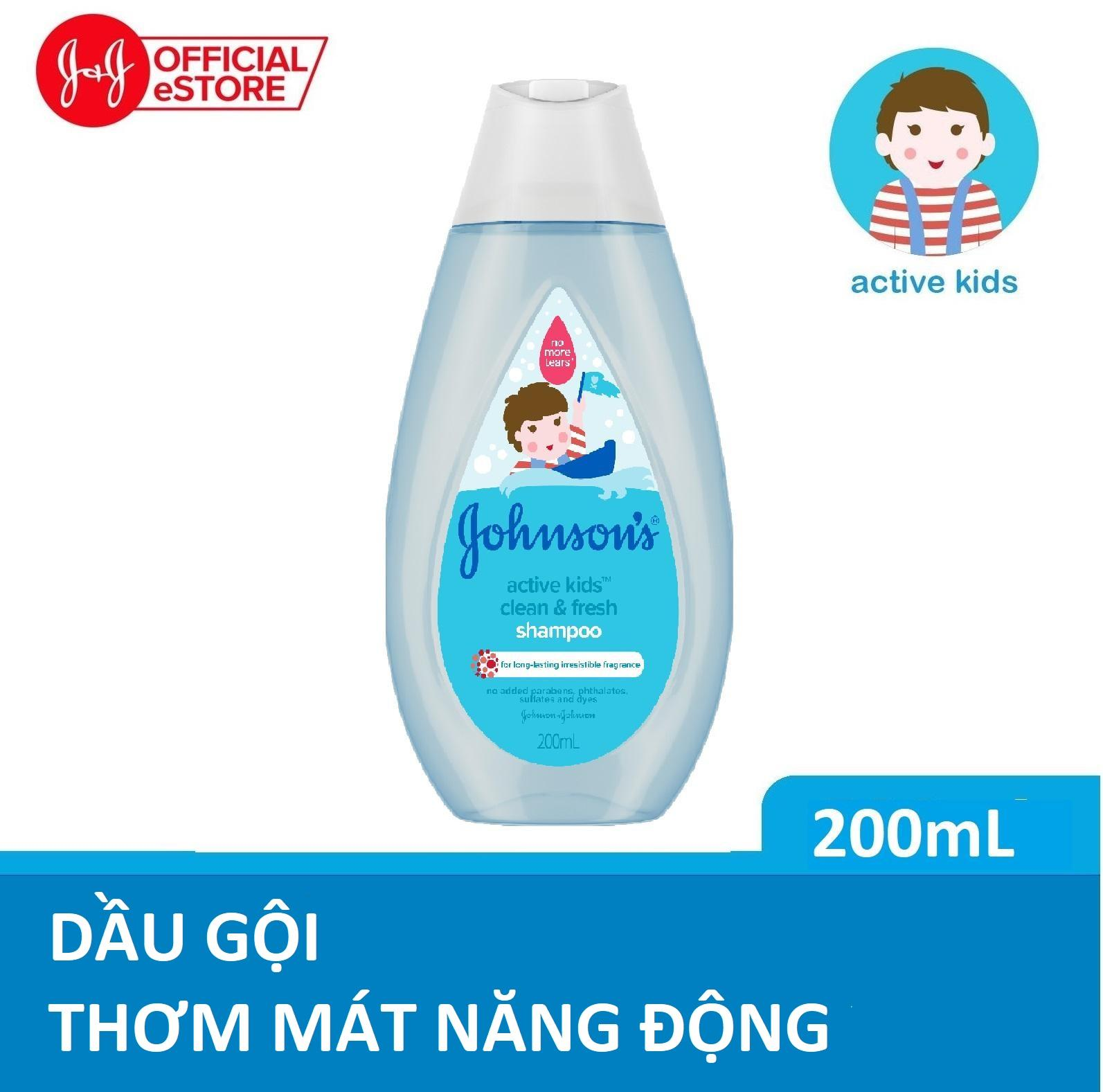 Offer Ưu Đãi Dầu Gội Johnson's Thơm Mát Năng động 200ml-100979998