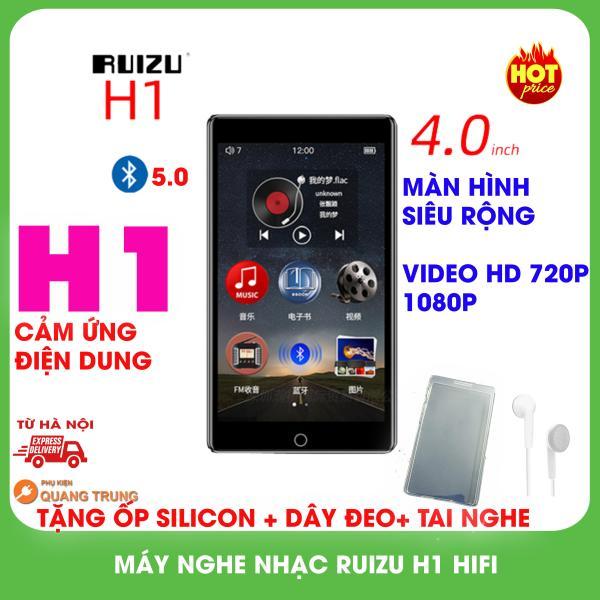 Máy nghe nhạc Ruizu H1 hifi,bluetooth 5.0,8GB bộ nhớ trong,tặng ốp silicon và dây đeo,tai nghe
