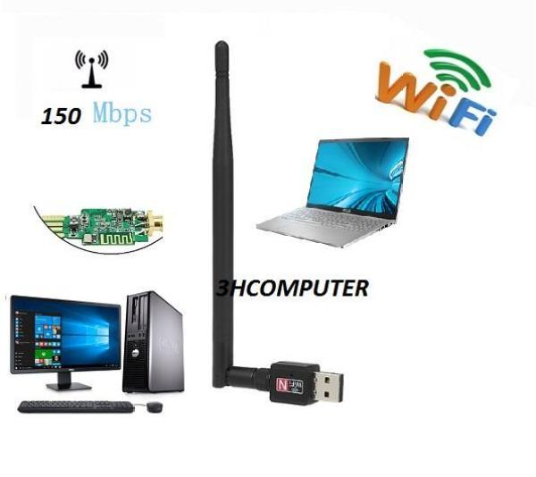 Bảng giá Thu wifi ,bộ thu wifi cho pc ,usb thu wifi 802 Có cần dài 5DP Tốc độ thu sóng cao 1000mps Phong Vũ