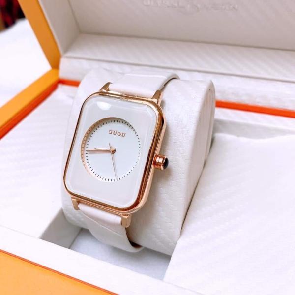 Nơi bán Đồng hồ thời trang nữ GUOU dây da cực hot K284