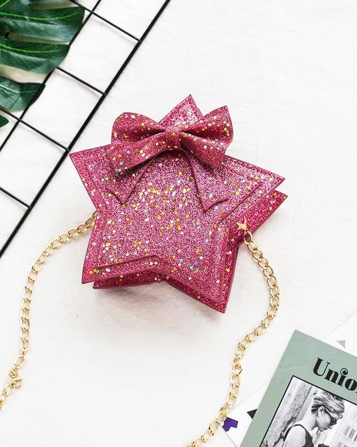 Giá bán Túi đeo chéo cho bé hình ngôi sao lấp lánh đáng yêu – TX013