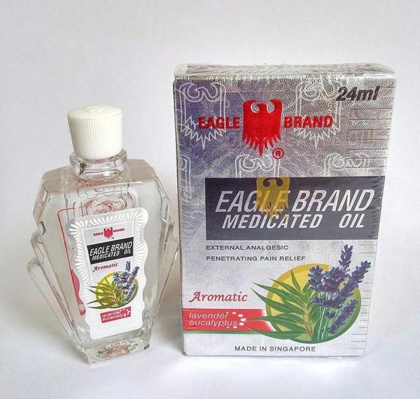 DẦU GIÓ NƯỚC TRẮNG CON Ó EAGLE BRAND SINGAPORE HAI NẮP 24 ML