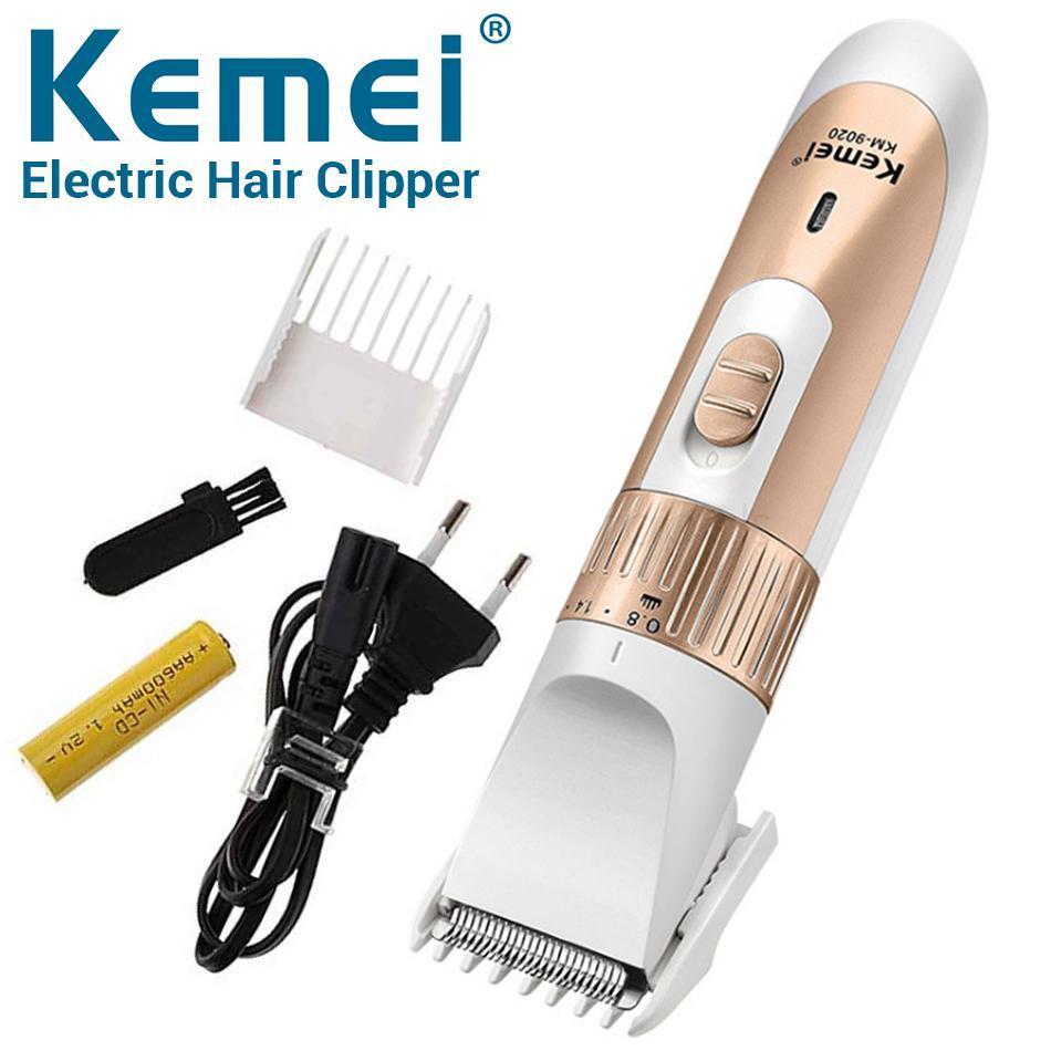 Tông đơ cắt tóc Kemei Máy cắt tóc có thể sạc lại, 3 bánh răng có thể điều chỉnh cho Nam Nữ trẻ em Vinatech nhập khẩu