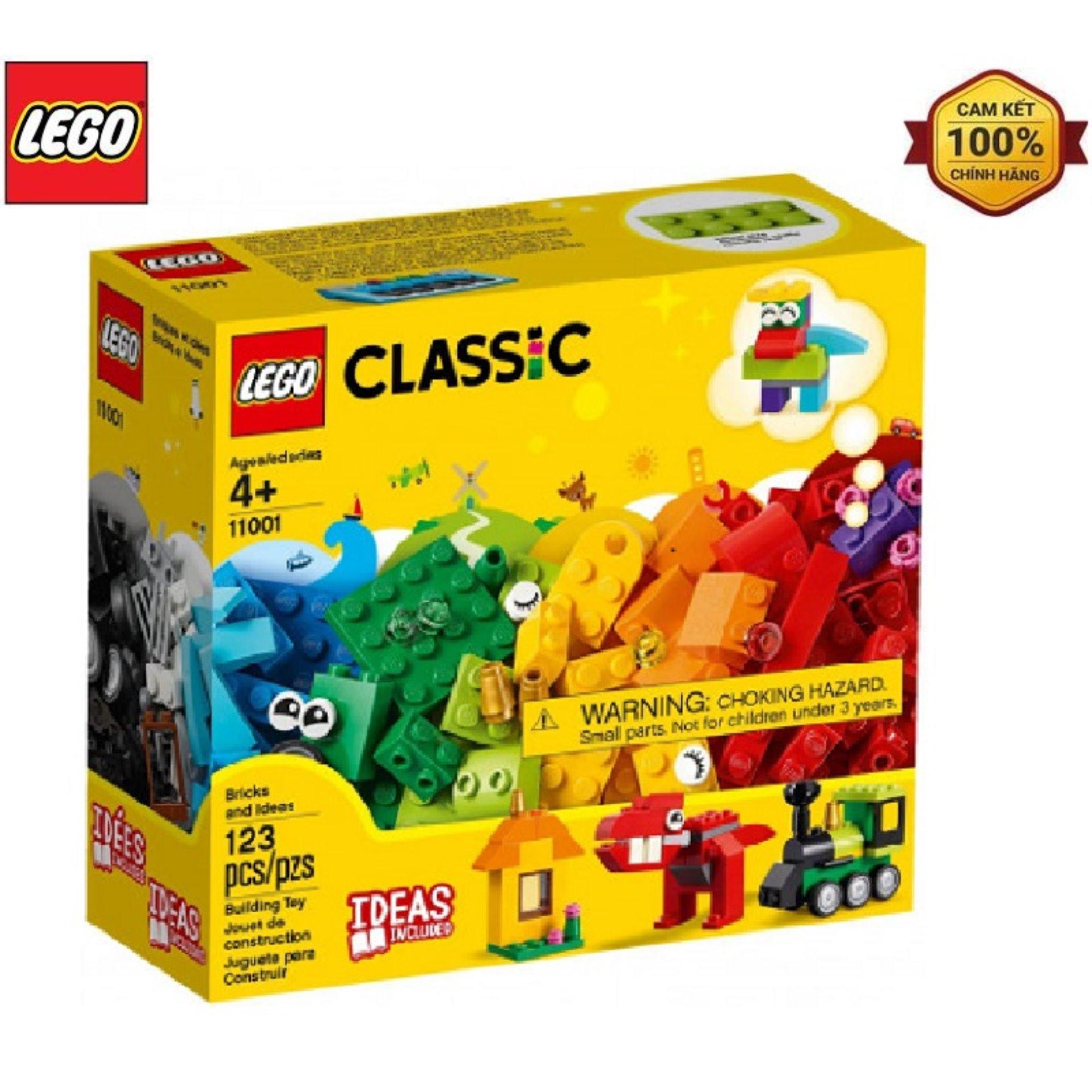 LEGO Classic Bộ Gạch Ý Tưởng 11001 - 123 Chi Tiết Ưu Đãi Bất Ngờ