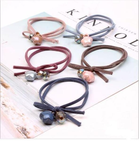 set 10 dây buộc tóc nữ phong cách Hàn Quốc cao cấp