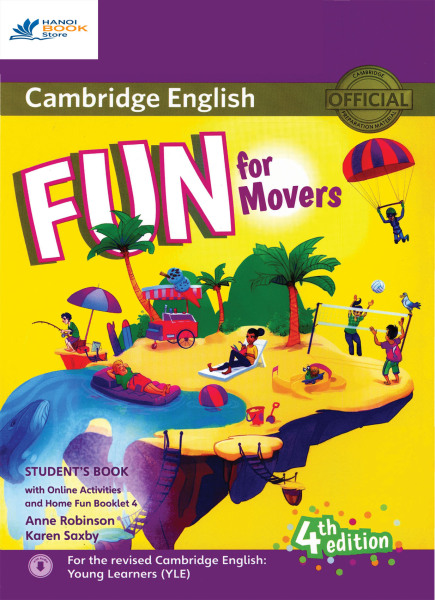 Fun for movers students book 4th - sách màu - Hanoi bookstore