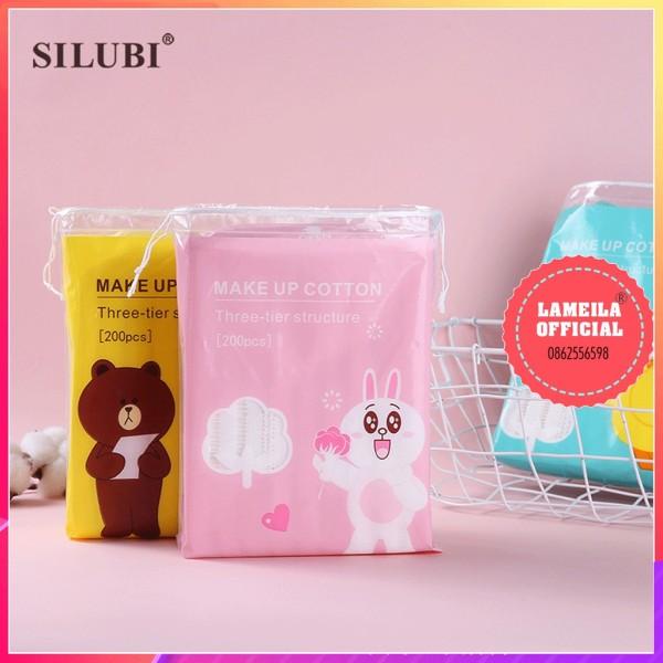 Bông Tẩy Trang Gấu Vịt Thỏ  Cotton P0085