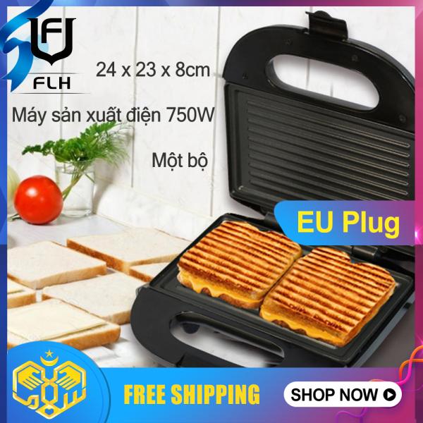 Flh 220V Máy Làm Bánh Sandwich Chạy Điện Nướng Tấm Nướng Bánh Mì Ăn Sáng Bánh Quế Máy Nướng Bánh Mì