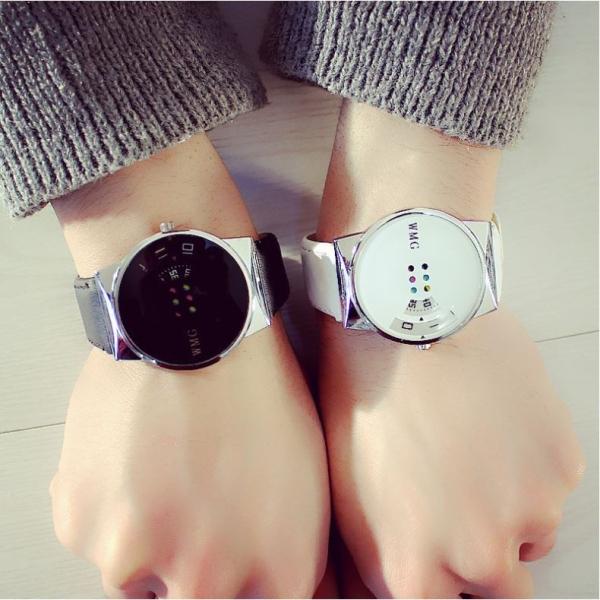 Đồng hồ thời trang nam nữ WMG độc đáo dây da M02