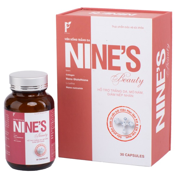 Viên Uống Nines Beauty TRẮNG DA, MỜ NÁM, GIẢM NẾP NHĂN cao cấp