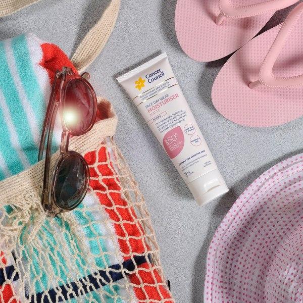 Kem chống nắng cancer council #moisturiser invisible ( hồng ) 150ml cao cấp