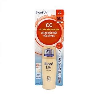 [Lấy mã giảm thêm 30%]Sữa Chống Nắng Lót Nền Biore UV Color CC Milk SPF50+ 30g thumbnail