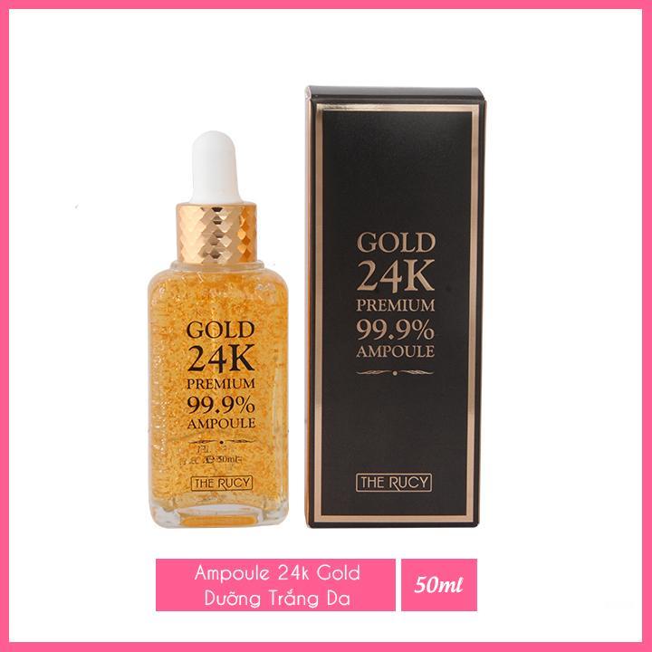 Serum tinh chất vàng 24k The Rucy Premium 99% Ampoule 50ml LKshop