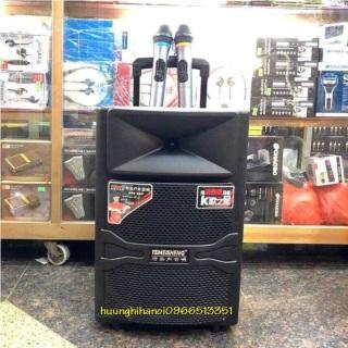 Loa karaoke di động, loa kéo di động, loa karaoke giá rẻ, loa karaoke bluetooth bass 3 tấc tặng kèm 2 micro không dây, công suất 500w hát cực hay temeisheng A12-44 thumbnail