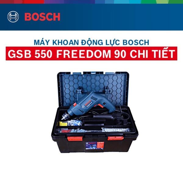 Máy khoan động lực GSB 550 Bosch 550W ( Bộ set hộp công cụ Freedom 90 chi tiết)