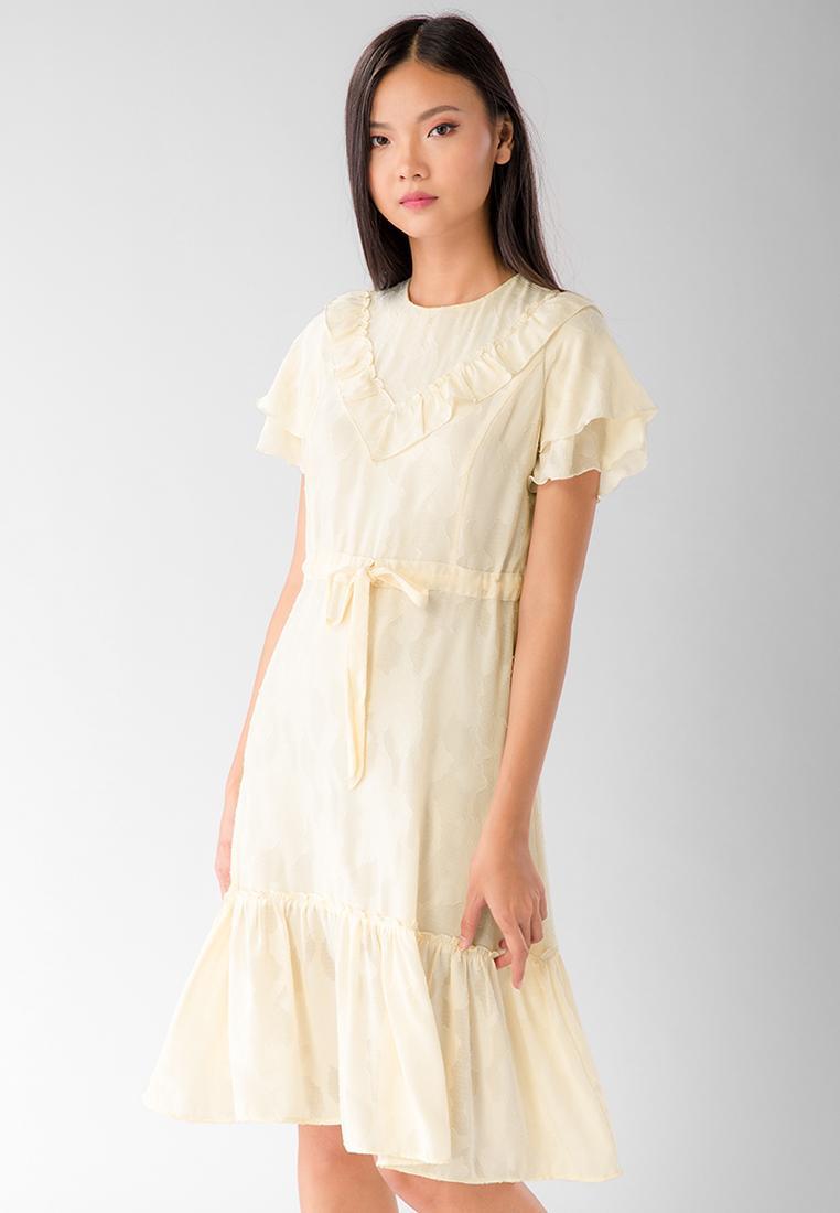 Đầm Dài Phối Bèo V Lilya 02DRE2184 Với Giá Sốc