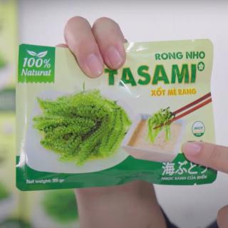 [TẶNG Sốt Mè Rang] Rong Nho tách nước TASAMI gói 35g Mẹ Bầu dùng được Đạt chuẩn FDA và HACCP 2