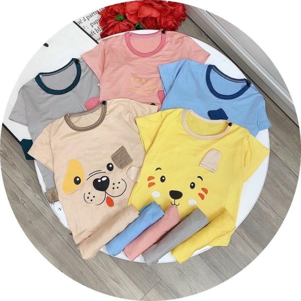 Giá bán Bộ Cộc Tay Thun Lạnh Tai Thú K.woo - Vải Mát Mịn Loại 1 Cho Bé trai và bé gái