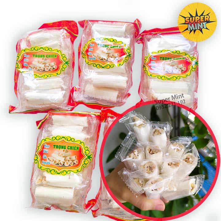 [HCM]KẸO DỒI LẠC VỪNG - KẸO KÉO - GIA TRUYỀN THÁI BÌNH(12 thanh) - Đồ ăn vặt - Bánh kẹo ăn vặt