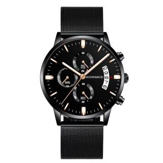 Đồng hồ nam YOLAKO dây thép đen có kèm lịch ngày mẫu HOT 2020 (full hộp) EC-D12 thumbnail