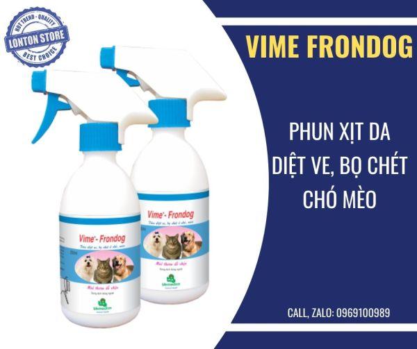 Vime Frondog Phun xịt tiêu diệt ve, bọ chét ở chó, mèo, trâu, bò, dê, cừu. Vimefrondog  vime-frondog  Vemedim & Lonton store