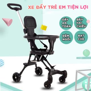 Xe nôi - xe đẩy em bé 2 chiều phiên bản cao cấp , chất liệu thoáng mát, bánh xe có giảm sóc, khóa đai an toàn, có thể gấp gọn - BẢO HÀNH 2 NĂM, ĐỔI MỚI 1-1 TRONG 7 NGÀY NẾU CÓ LỖI thumbnail