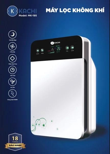 Bảng giá Máy lọc không khí Kachi mk195 - màu trắng, dùng cho phòng 40m2 trở xuống, tốc độ lọc 170m3/h, không gây tiếng ồn, sử dụng bộ lọc HEPA 5 lớp, lọc 99.98% bụi bẩn và ô nhiễm Điện máy Pico