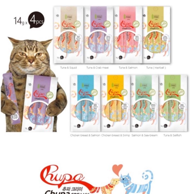 Combo 10-20-30-40-50 thanh thưởng Chupa Creamy Hàn Quốc cho mèo mix nhiều vị