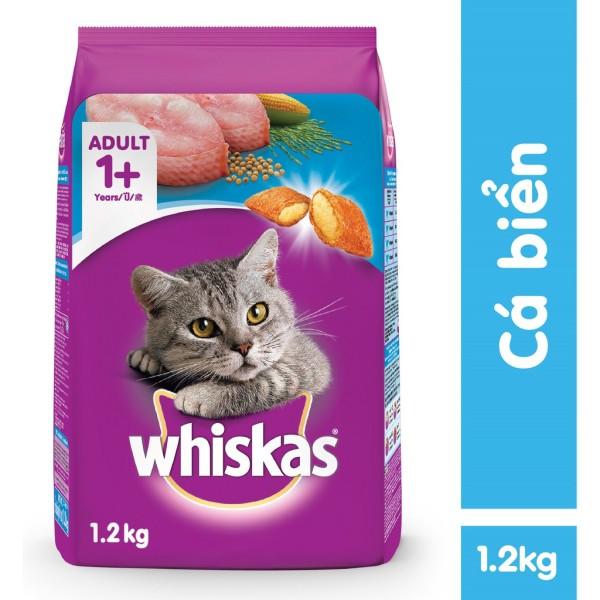 Thức ăn Whiskas vị cá Biển 1,2kg