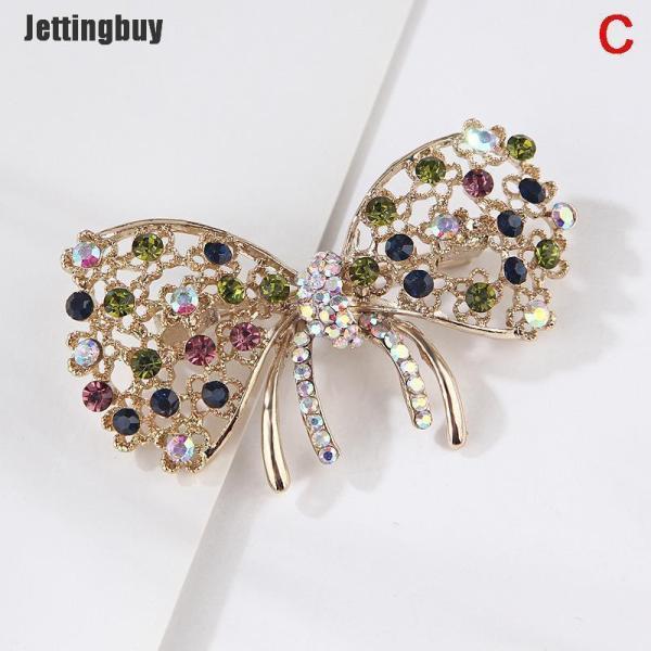 Jettingbuy Ghim cài áo nhiều kiểu dáng có đính đá giả kim cương nhiều màu sắc tạo cảm giác thanh lịch - INTL