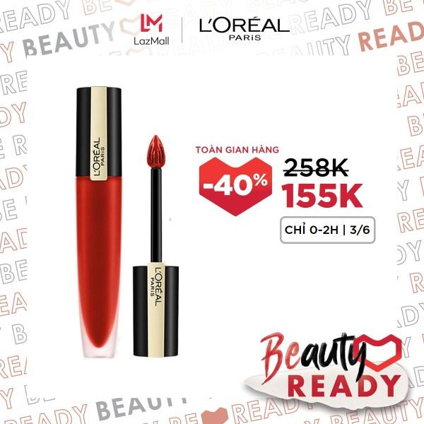 Son tint mịn lì cao cấp L'Oréal Paris Rouge Signature 7ml giá rẻ