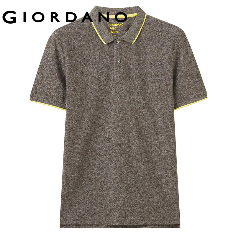 Áo thun có cổ polo nam chi tiết sọc đơn giản trẻ trung cổ bẻ chất liệu mềm mịn Giordano...