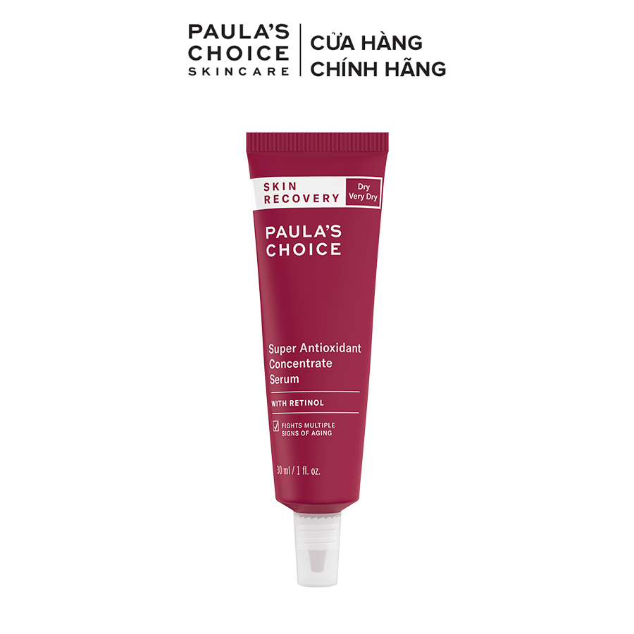 Tinh chất chống oxi hóa phục hồi da tổn thương Paula's Choice Skin Recovery Super Antioxidant Concentrate Serum With Retinol 30ml 3250