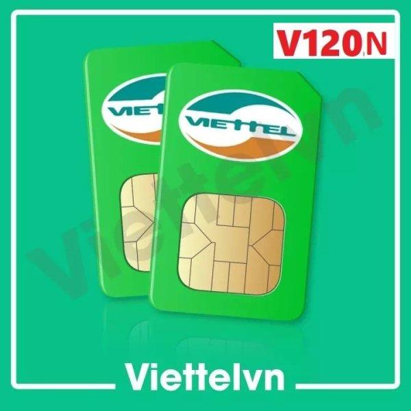 Sim 4g viettel v120n 4gb/ngày, 120gb/tháng , gọi nội mạng miễn phí ,50 phút gọi ngoại mạng