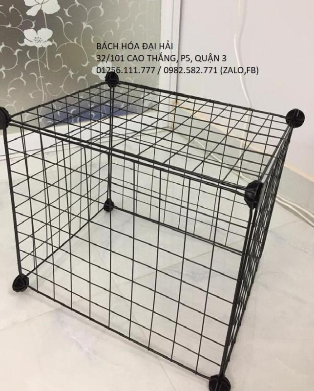 Kệ lưới sắt lắp ghép đa năng- làm chuồng quây thú cưng - kệ trang trí - kệ sách - kệ sắt để cây cảnh- COMBO 5 tấm lưới 35cm x 35cm