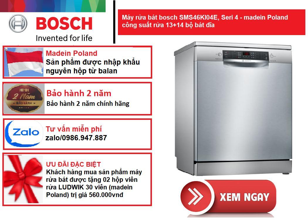 Máy rửa bát Bosch SMS46KI04E