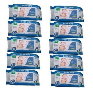 (freship HCM-MIỀN NAM) Bộ 06 gói khăn ướt 100 tờ BABYMOMMY thơm dịu nhẹ tự nhiên (màu xanh) 1