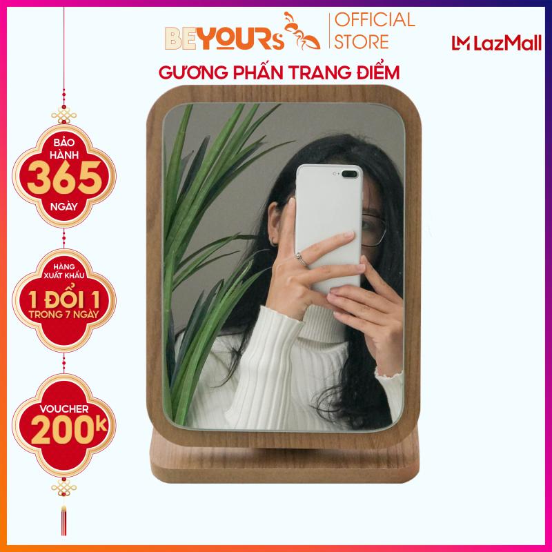 Gương trang điểm gỗ để bàn BEYOURs Phấn mirror nội thất kiểu hàn lắp ráp