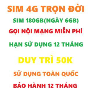 Sim 4G vietnamobile trọn đời 180GB hạn sử dụng 12 tháng tặng que chọt sim miễn phí vận chuyễn thumbnail