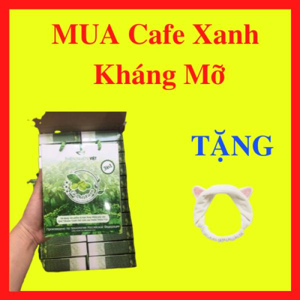 Cafe xanh kháng mỡ thiên nhiên việt - Hạt Cà Phê Sạch Nguyên Chất (Hộp 10 gói) + Tặng Kèm Băng Đô Tai Mèo Xinh Xắn
