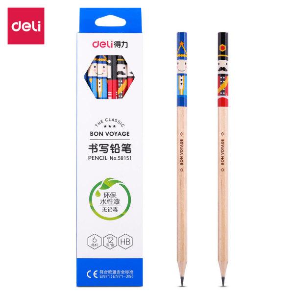 Mua Bút chì gỗ Deli - Họa tiết hoạt hình HB/2B - 12 chiếc/Hộp - 58151/58152
