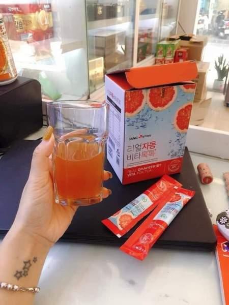 Nước ép bưởi đỏ Hàn quốc Sanga Real Grapefruit Vita Tok Tok