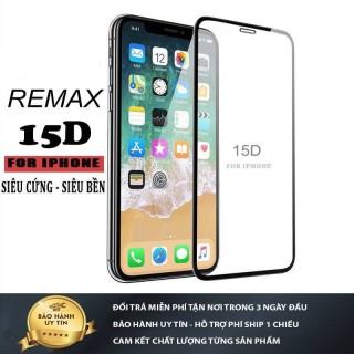 Kính cường lực iphone 15D Full Màn REMAX 6 6plus 6s 6s plus 7 7plus 8 8plus x xs xs max 11 11 pro 11 promax -( Tặng giấy lau kính) thumbnail