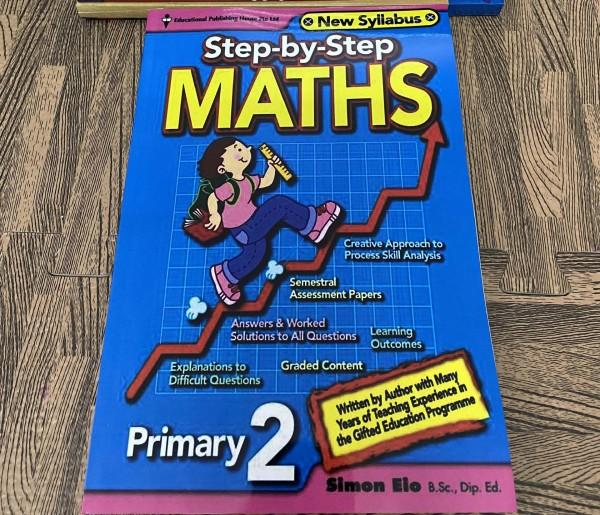 sách Step by step Maths Primary 2 -  sách toán tiếng Anh tiểu học Singapore ( sách gia công như hình)