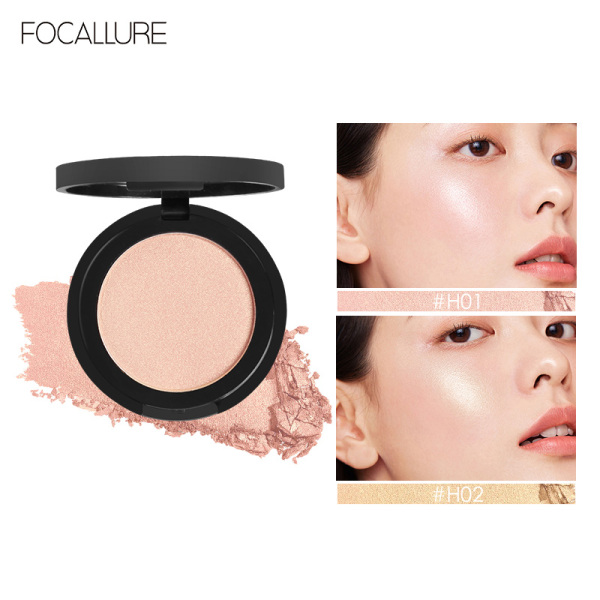 Phấn bắt sáng FOCALLURE dạng nén mịn màng lâu trôi giúp làm sáng nổi bật khuôn mặt với 5 màu tùy chọn - INTL