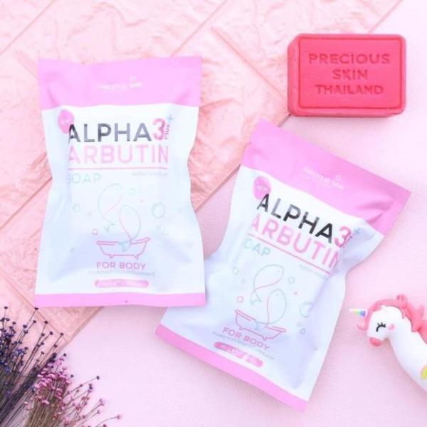 Soap Xà Phòng Tắm Trắng Da Body ALPHA ARBUTIN 3+ Plus