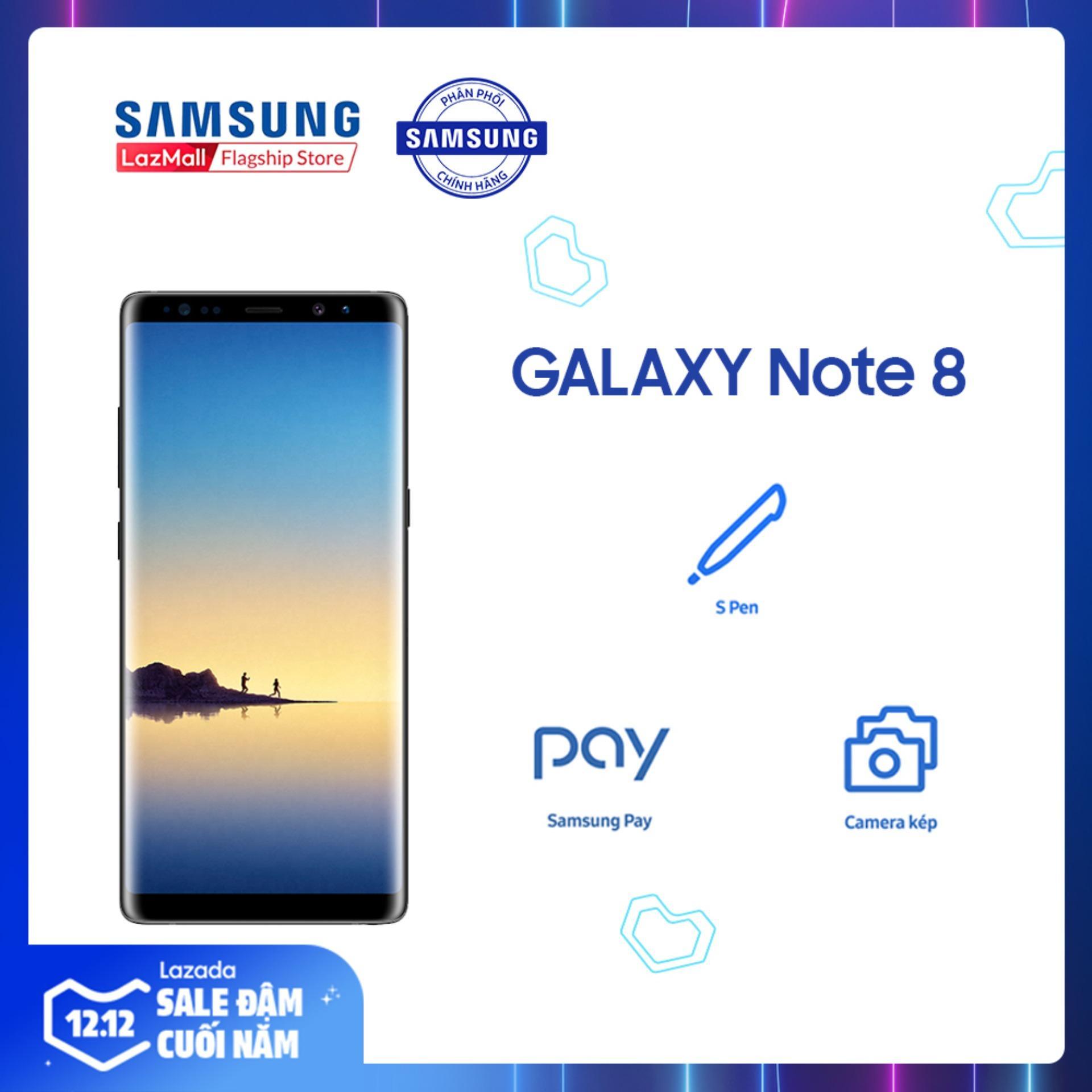 Coupon Khuyến Mại Điện Thoại Samsung Galaxy Note 8 64GB (6GB RAM) -  Màn Hình Super Amoled Vô Cực Không Viền 6.3  + Camera Sau Kép 12 MP + Pin 3300 MAh - Hàng Phân Phối Chính Hãng.