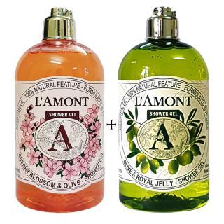 2 Chai Sữa Tắm LAmont En Provence Hương Oliu và Hoa Anh Đào- 500ml chai thumbnail