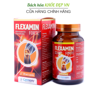 Viên Uống Bổ Xương Khớp Glucosamine 1200mg Flexamin giảm đau nhức mỏi xương khớp, giảm thoái hóa khớp - Hộp 30 viên nang mềm Chuẩn GMP Bộ Y Tế thumbnail